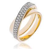 0.30CTS Diamonds  18k Yellow Gold  Ring