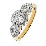 0.80CTS Diamonds  18k Yellow Gold  Ring