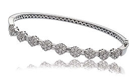 1.85ct Diamond Bangle 18k White Gold