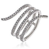 0.55CTS Diamonds  18k White Gold  Ring