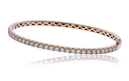 2.40ct Diamond Bangle  18k Rose Gold