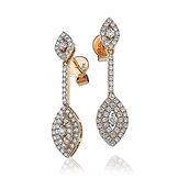 1.80ct Diamond Earrings 18k Rose Gold