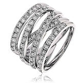 1.33CTS Diamonds  18k White Gold  Ring