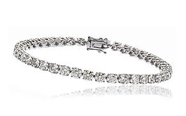 10.00ct Diamond Bracelet 18k White Gold