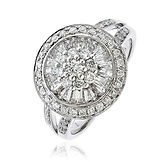 1.00CTS Diamonds  18k White Gold  Ring