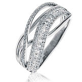0.65CTS Diamonds  18k White Gold  Ring