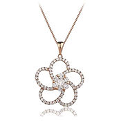 Flower Style 0.80ct  18k Rose Gold