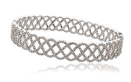 1.35ct Diamond Bangle 18k White Gold