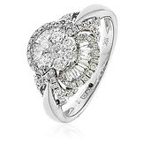 0.75CTS Diamonds  18k White Gold  Ring