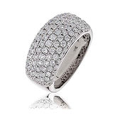 1.65CTS Diamonds  18k White Gold  Ring