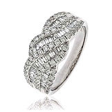 1.15CTS Diamonds  18k White Gold  Ring