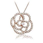 Diamond Pendant  1.10ct Diamonds  18k Rose Gold