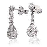 1.10ct Diamond Earrings  18k White Gold