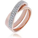 0.30CTS Diamonds  18k Rose Gold  Ring