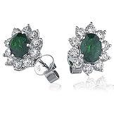 0.60ct Diamond &  1.90ct Emerald  18k White Gold