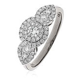 0.80CTS Diamonds Platinum  Ring