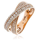 0.70CTS Diamonds  18k Rose Gold  Ring