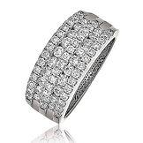 1.15CTS Diamonds Platinum  Ring