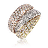 2.805CTS Diamonds  18k R/W/Y Gold  Ring
