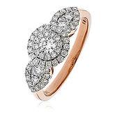 0.80CTS Diamonds  18k Rose Gold Ring