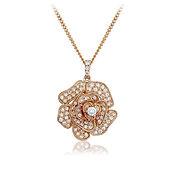 Diamond Flower Pendant 0.60ct 18kt Rose Gold