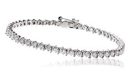 3.00ct Diamond Bracelet 18kt White Gold