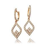 1.00ct Diamond Earrings 18k Rose Gold