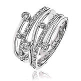 0.37CTS Diamonds  18k White Gold  Ring
