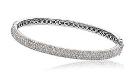 3.50ct Diamond Bangle 18k White Gold