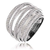 1.90CTS Diamonds  18k White Gold  Ring