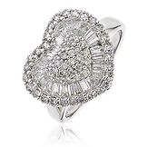 1.40CTS Diamonds  18k White Gold  Ring