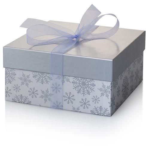White Snowflake Tiered Box