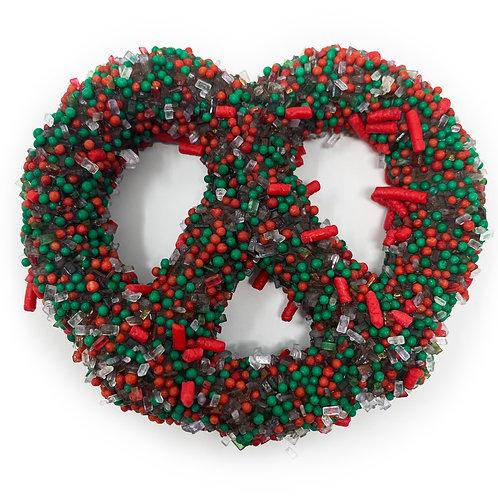 Christmas Sprinkle Pretzels