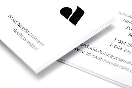 Visitenkarten Advokatur Aussersihl