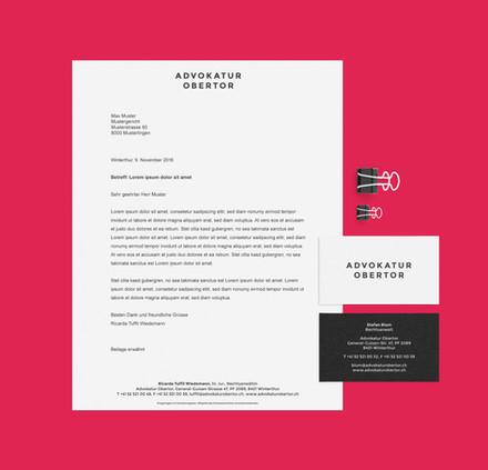 Advokatur Obertor, Corporate Design