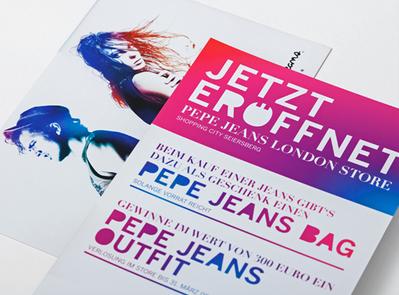Pepe Jeans, Eröffnungskarte