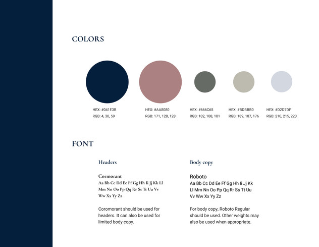Discussions by Design brand colors and font