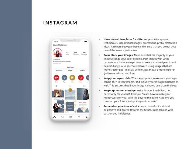 Jodi Vetterl instagram guide