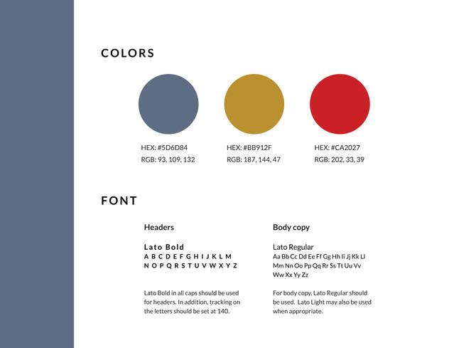 Jodi Vetterl Brand colors and font