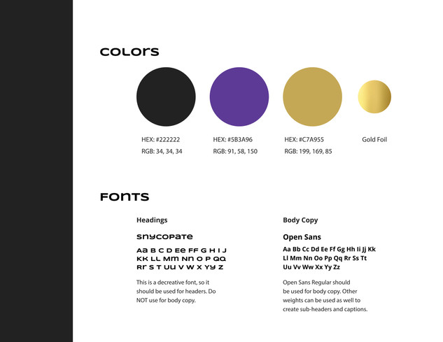 Vincent Cheng Brand Colors and Fonts