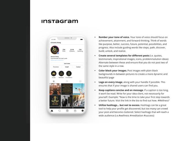 Vincent Cheng Instagram Guide