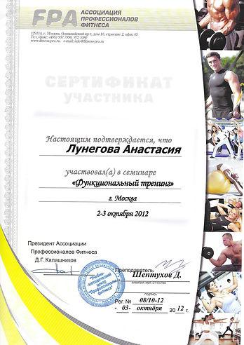 Функциональный тренинг 1 уровень (FPA)