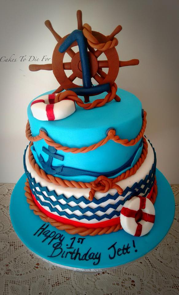 Two Tiered Nautical Cake