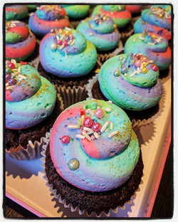 Psychedelic Sprinkle Cupcakes