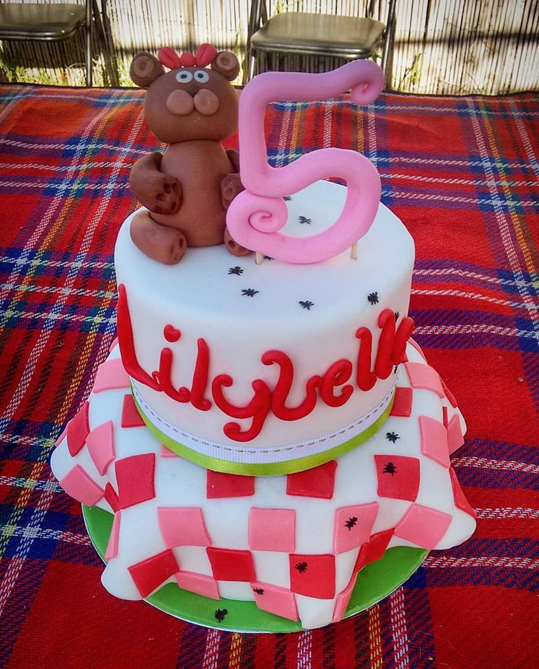 Two Tiered Teddy Bear Picnic Cake