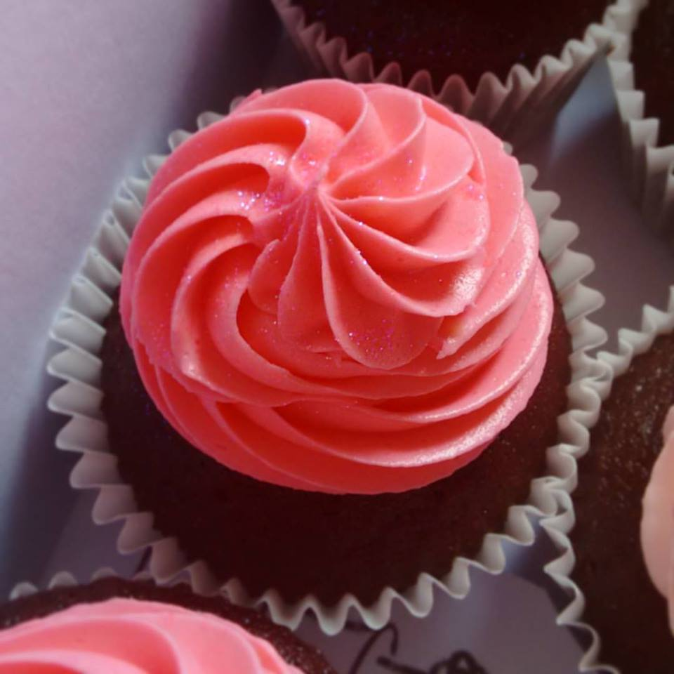 Pink Sparkle Cupcake