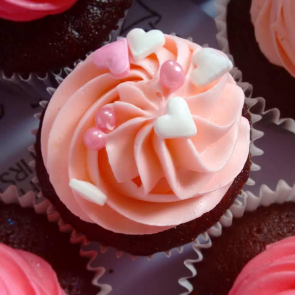 Baby Pink Heart Cupcake