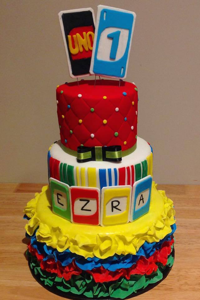 Two Tiered Uno Cake