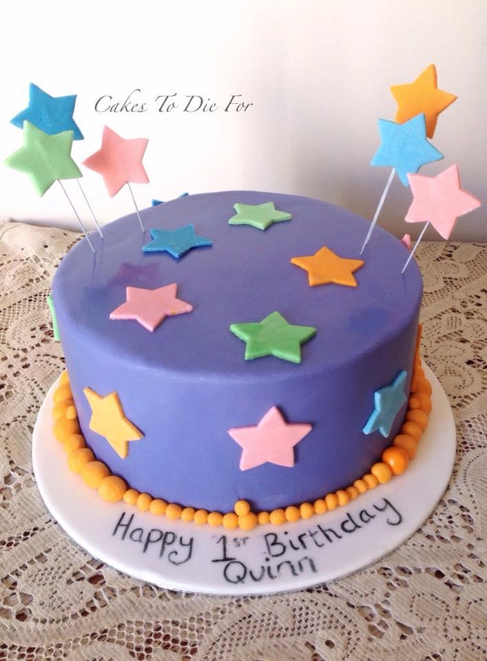 Simple Stars Cake
