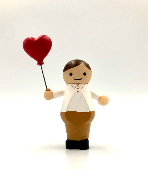 Wooderful Life Boy with Love Balloon